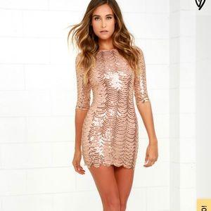 Gold Sequin Bodycon Lulu's Dress